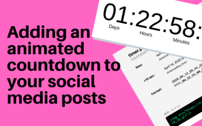 Adding an animated countdown to your social media posts