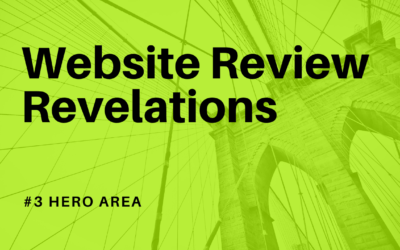 Learnings from a website review – website hero area