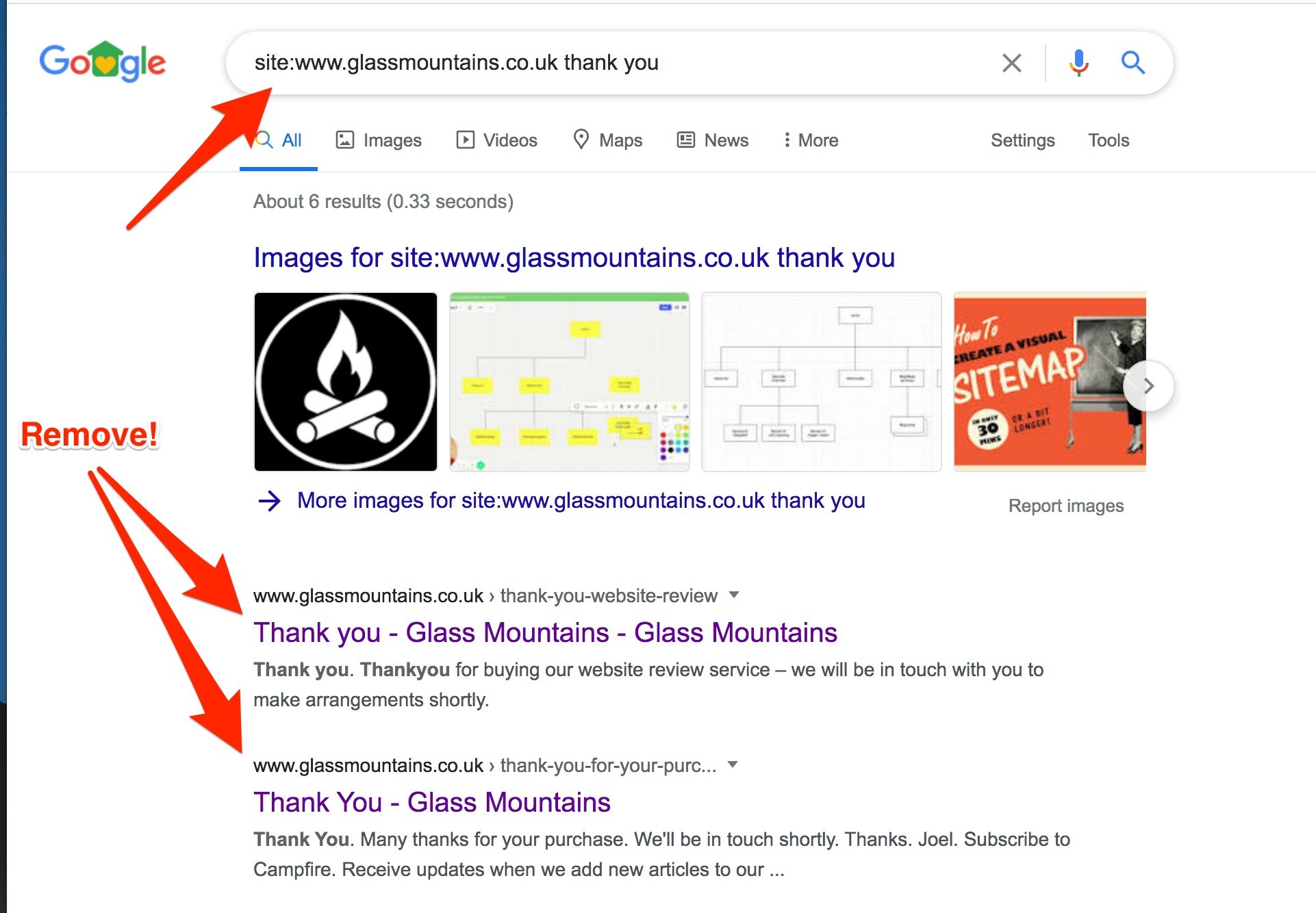 A site:www.glassmountains.co.uk search revealed issues….