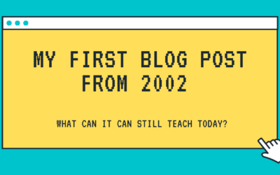 My first blog from 2002