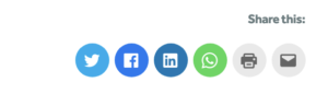 Example of social media sharing buttons