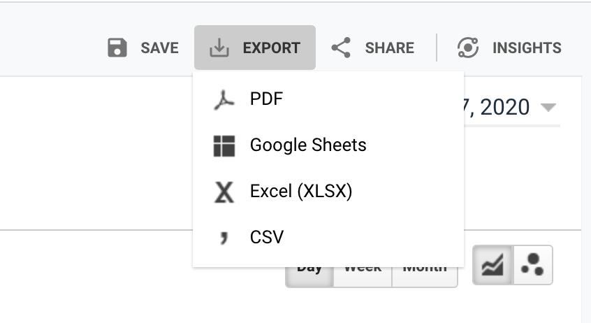 Fig 6 - export your Google Analytics report