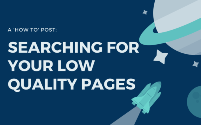 searching for your low quality pages