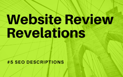 Website Review Findings - SEO descriptions