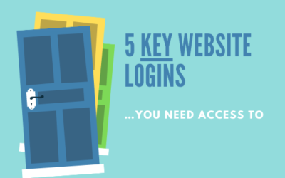 5 key website logins you need access to