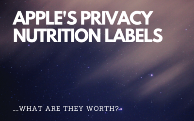 Apple's Privacy Nutrition Labels