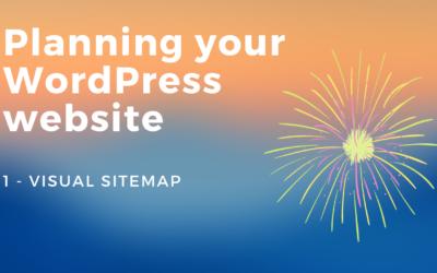 Planning your WordPress website - 1. visual sitemap